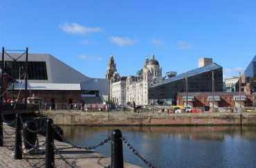 Liverpool waterfront, museum of liverpool and graces
