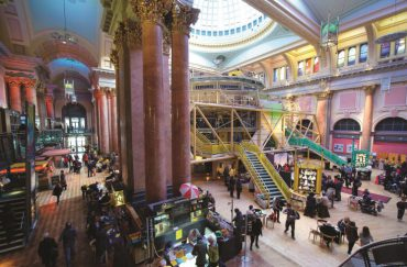 Photo of the interior of the Royal Exchange