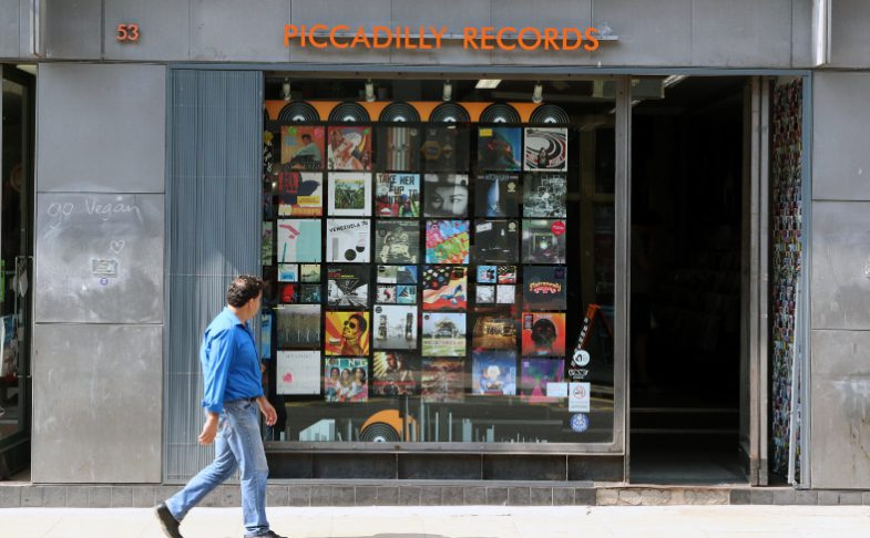 Image of Piccadilly Records on Manchester's Oldham Street