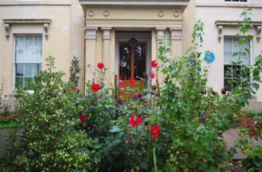 Elizabeth Gaskell's House garden. Photo by Chris Tucker