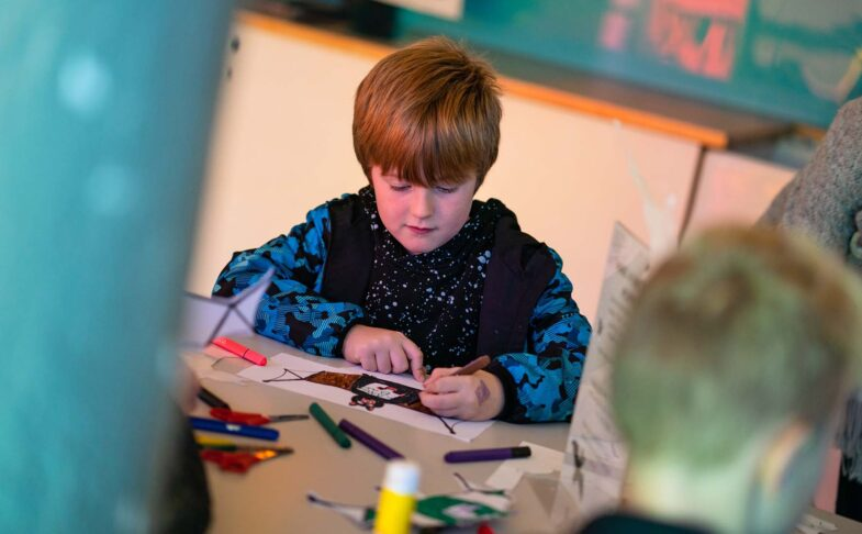 Child attends Creative Writing Workshop with Seven Stories