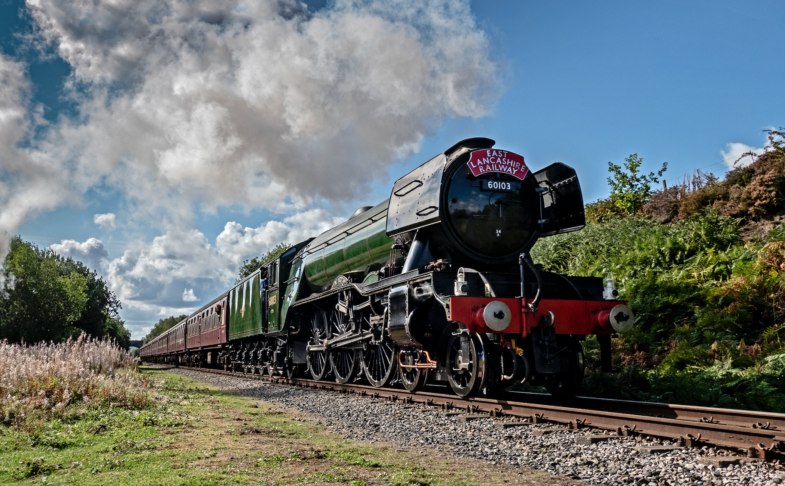 Flying Scotsman Eats Lancashire Railway